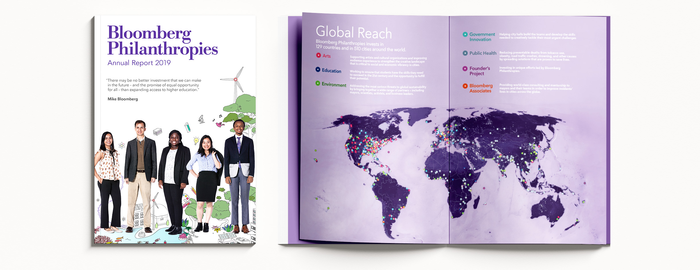 Bloomberg Philanthropies Annual Report Program MAp