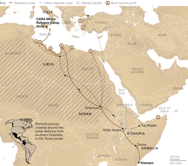 Businessweek map and data visualization - migration