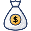 flat rate monthly fee icon