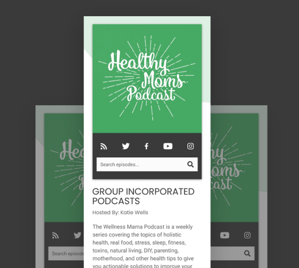 Example of a podcast landing page