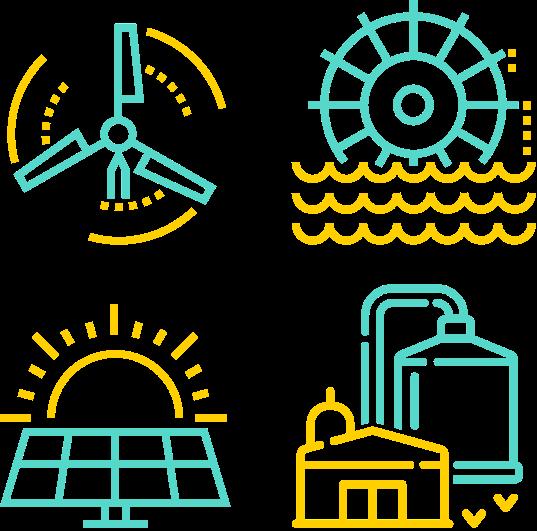 illustration des énergies renouvelables françaises
